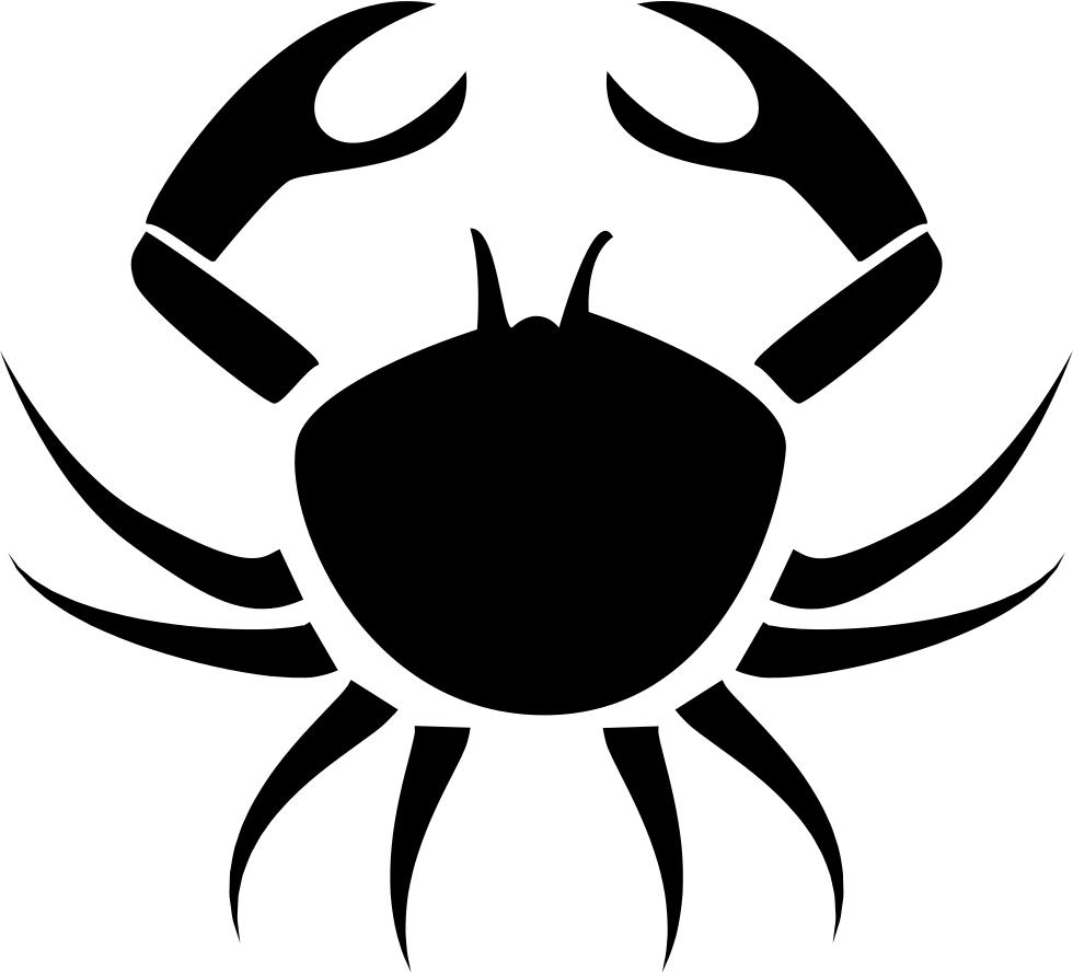 Outline clipart crab. Cancer symbol svg png