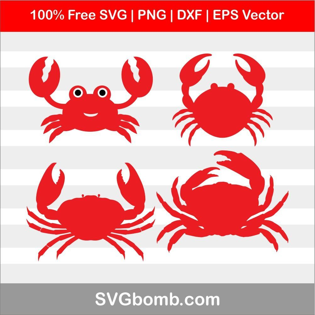 Crabs clipart svg free. Pin on animals dxf