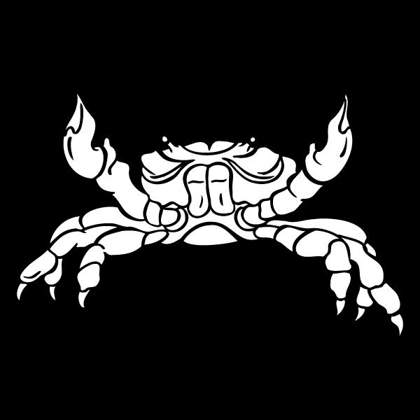 Crabs clipart symmetry. Crab visual arts black
