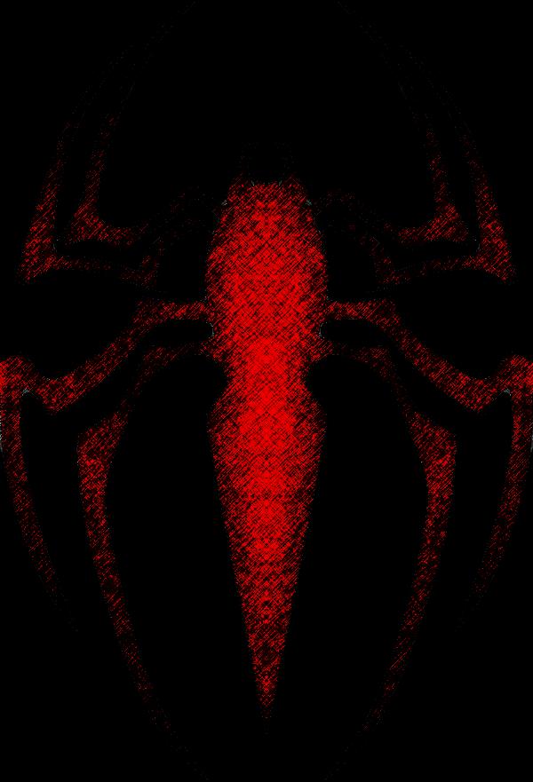 Custom spiderman logo colored. Crabs clipart symmetry