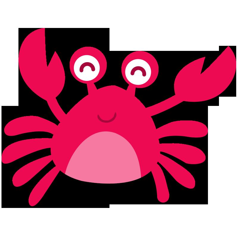 Crab cartoon sticker clip. Crabs clipart top view