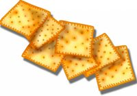 Crackers food pencil and. Cracker clipart