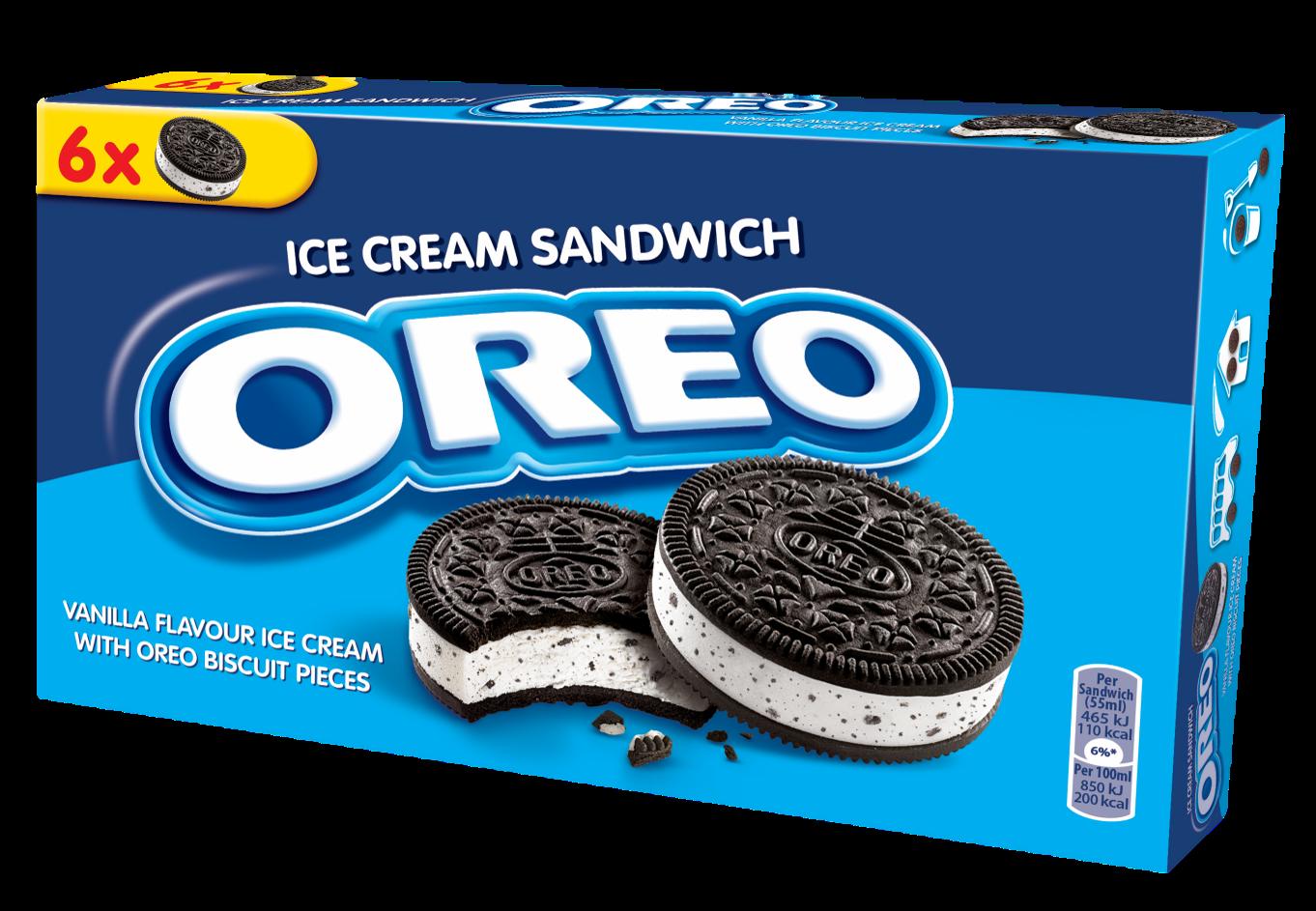 Icedream creamy vanilla flavored. Oreo clipart cookie cream