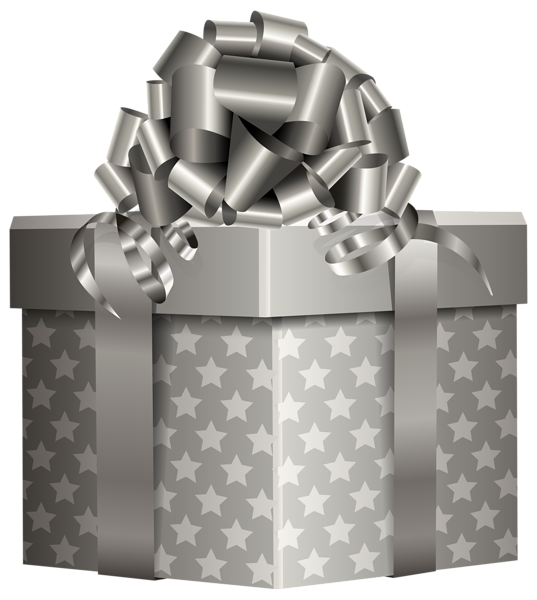 Silver gift png clip. Cracker clipart boxed