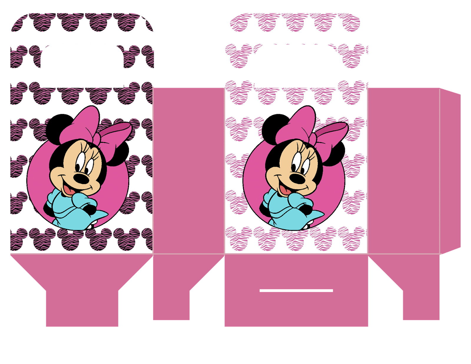 Party kit boxes minnie. Cracker clipart boxed