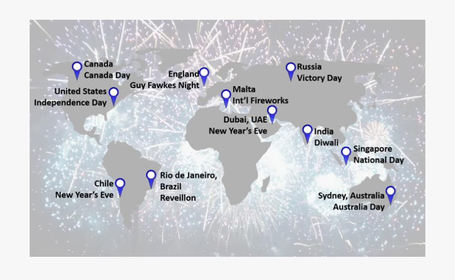 Global silhouette . Cracker clipart canada day firework