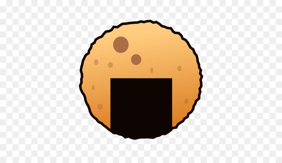 Cracker clipart circle. Orange emoji rice transparent