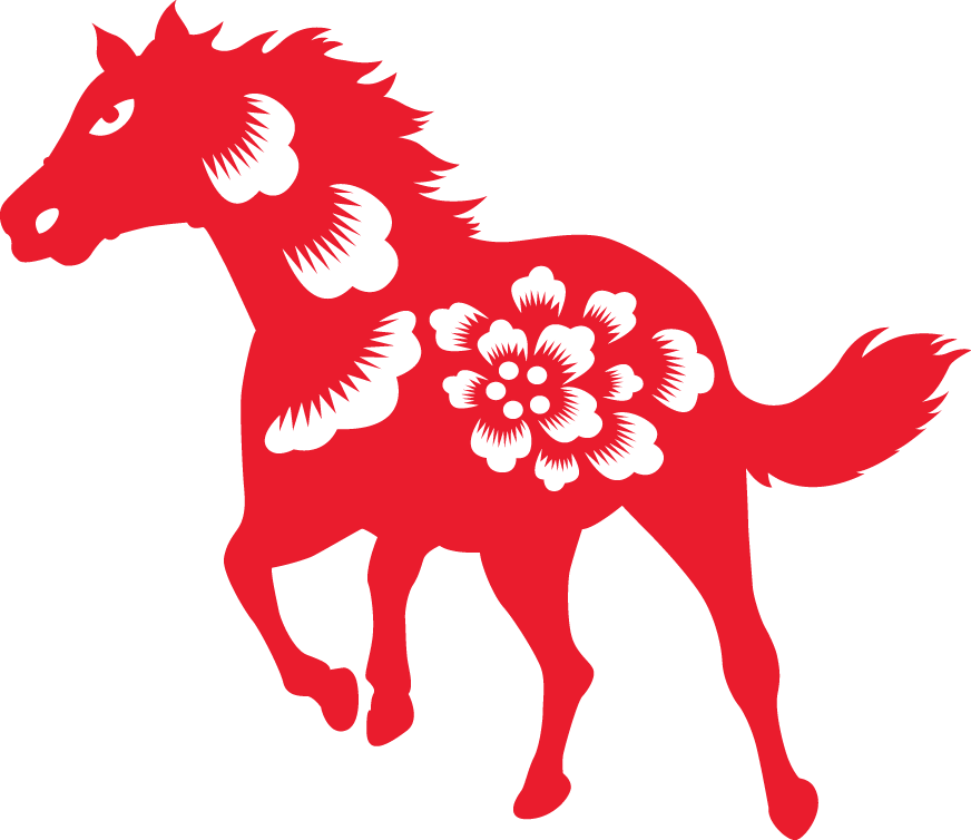 Year of the horse. Cracker clipart cny