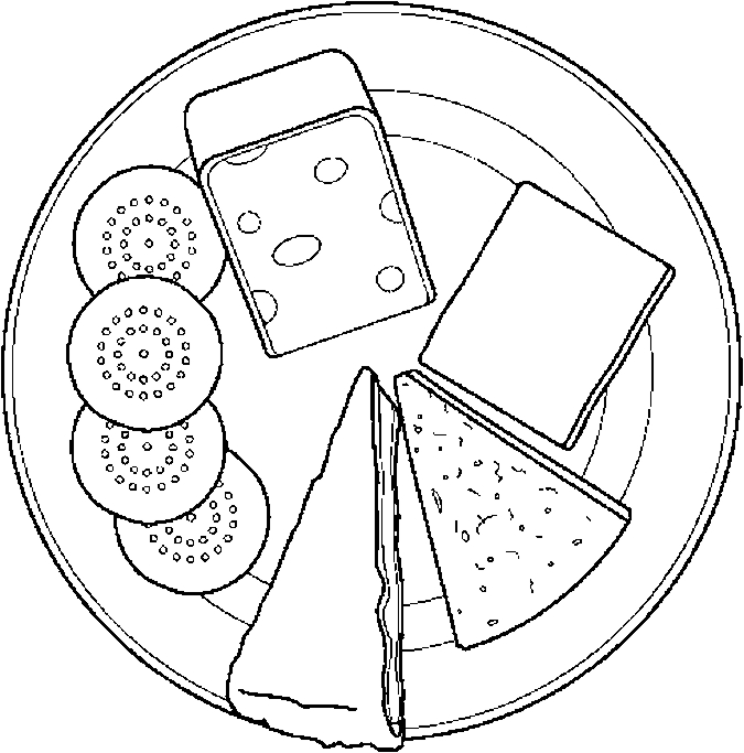 best dairy coloring. Cracker clipart colouring
