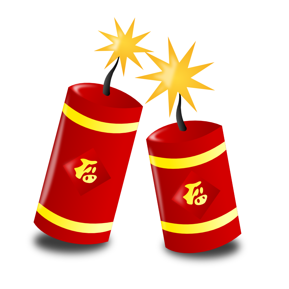 New year s eve. Cracker clipart extra