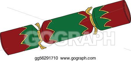 Cracker clipart green. Eps vector christmas stock