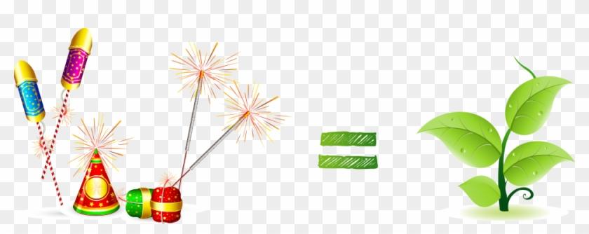 Diwali firework pencil and. Cracker clipart green