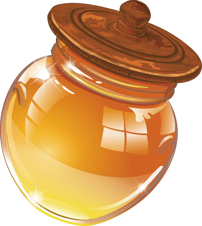 Flour clipart granulated sugar. Jar of honey by