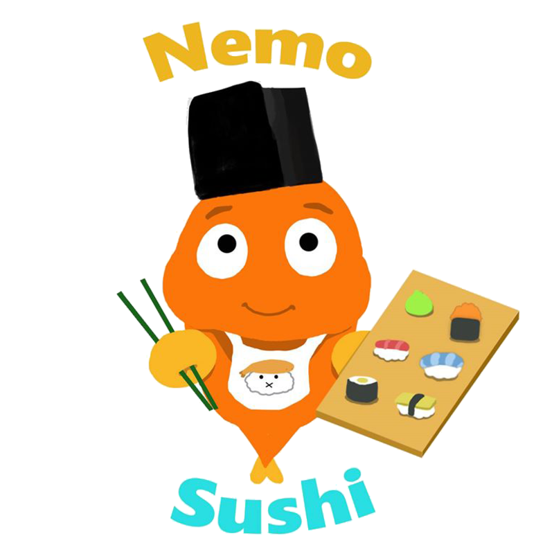 Nemo sushi delivery w. Soup clipart spilled