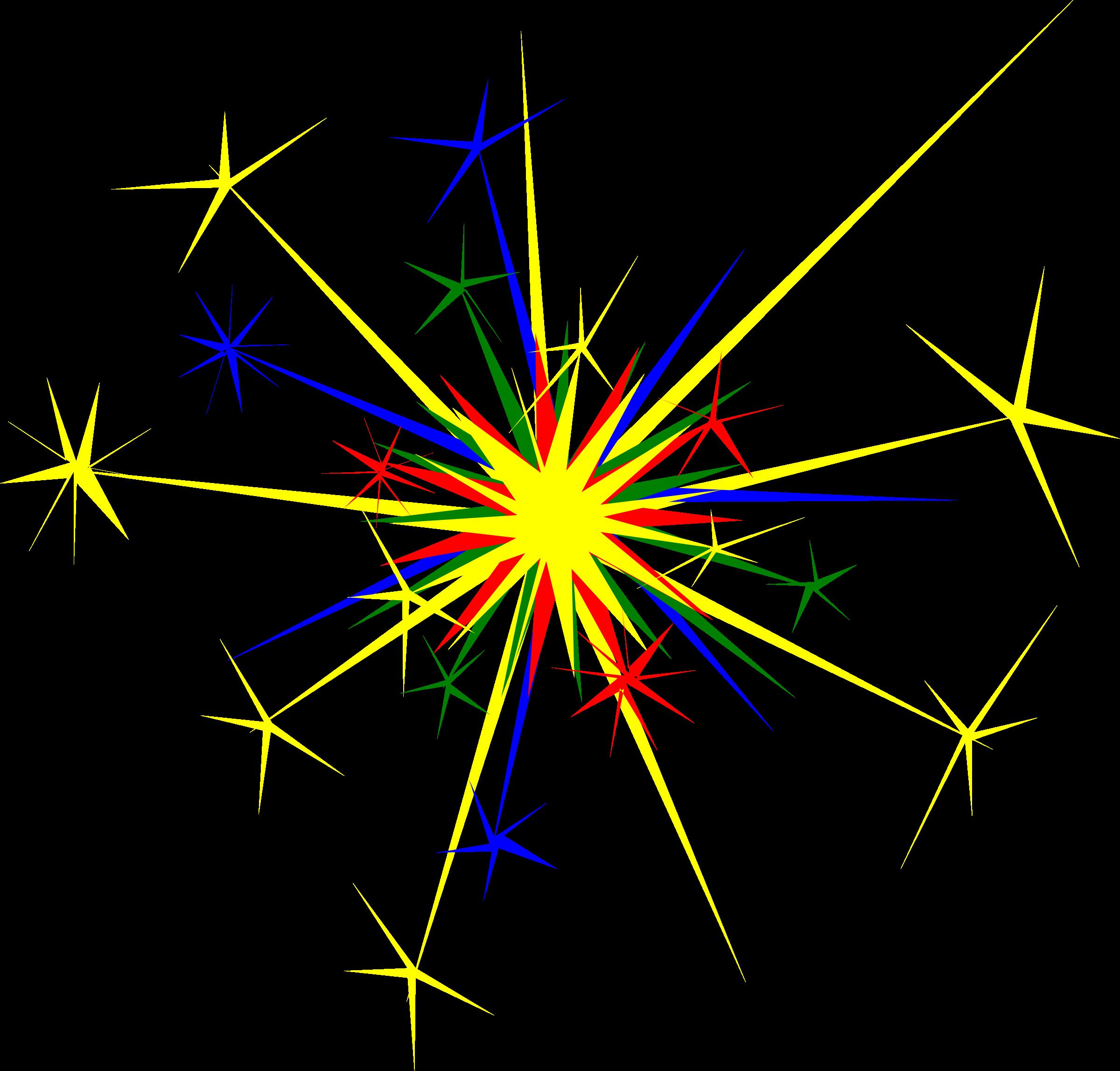Multicolored sparkle big image. Fireworks clipart sparkler