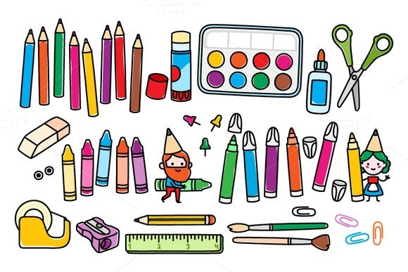 Craft clipart. Supplies animehana com