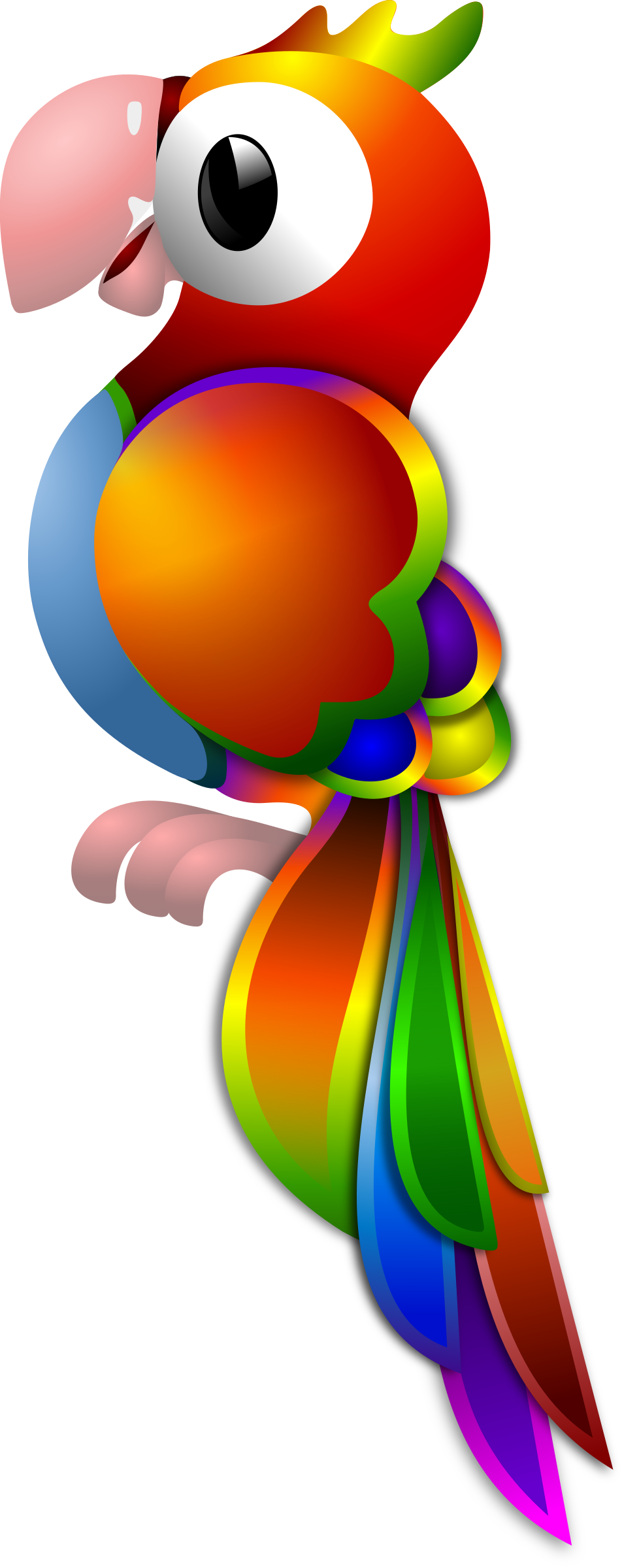 Remix by merlin clip. Parrot clipart shadow