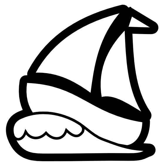 Black and craft projects. White clipart sailboat