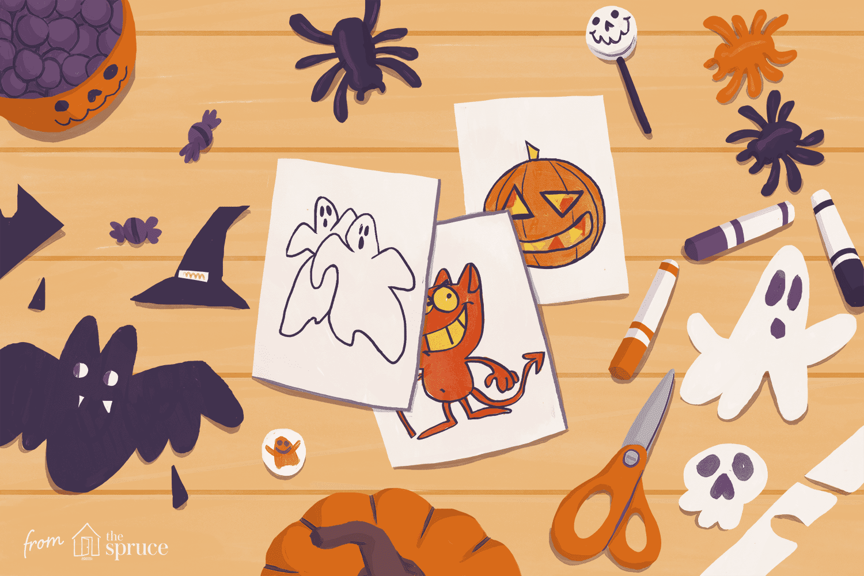 Free halloween clip art. Craft clipart craft table