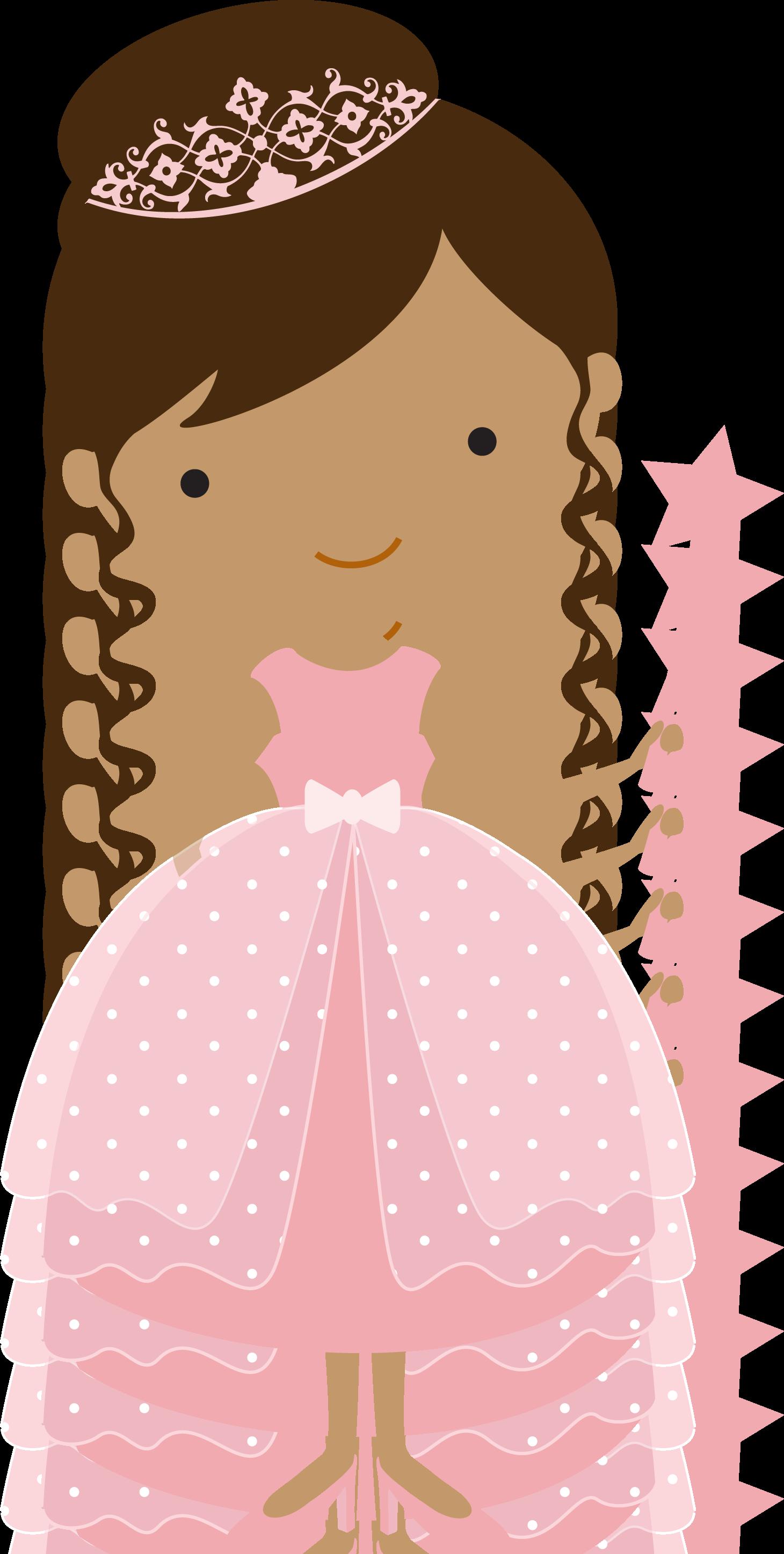 Princesas e fadas pink. Ham clipart noche buena