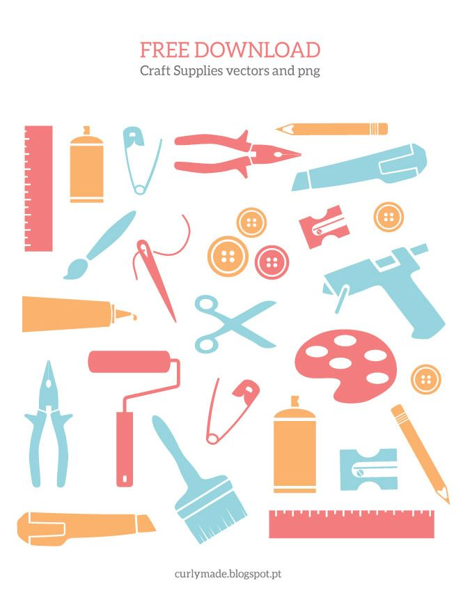 Free download supplies vectors. Craft clipart craft tool