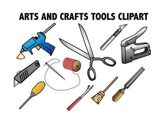 Craft clipart craft tool. Arts crafts tools crafting