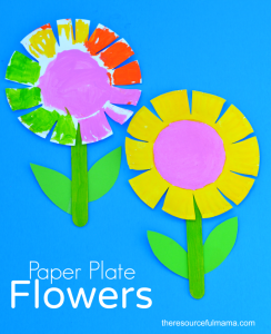 Paper plate flower for. Craft clipart craft work