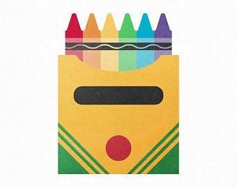 Crayons clipart svg. Crayon etsy