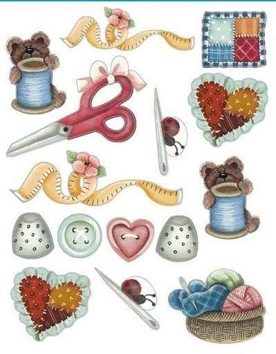 Crafty images sewing . Craft clipart decoupage