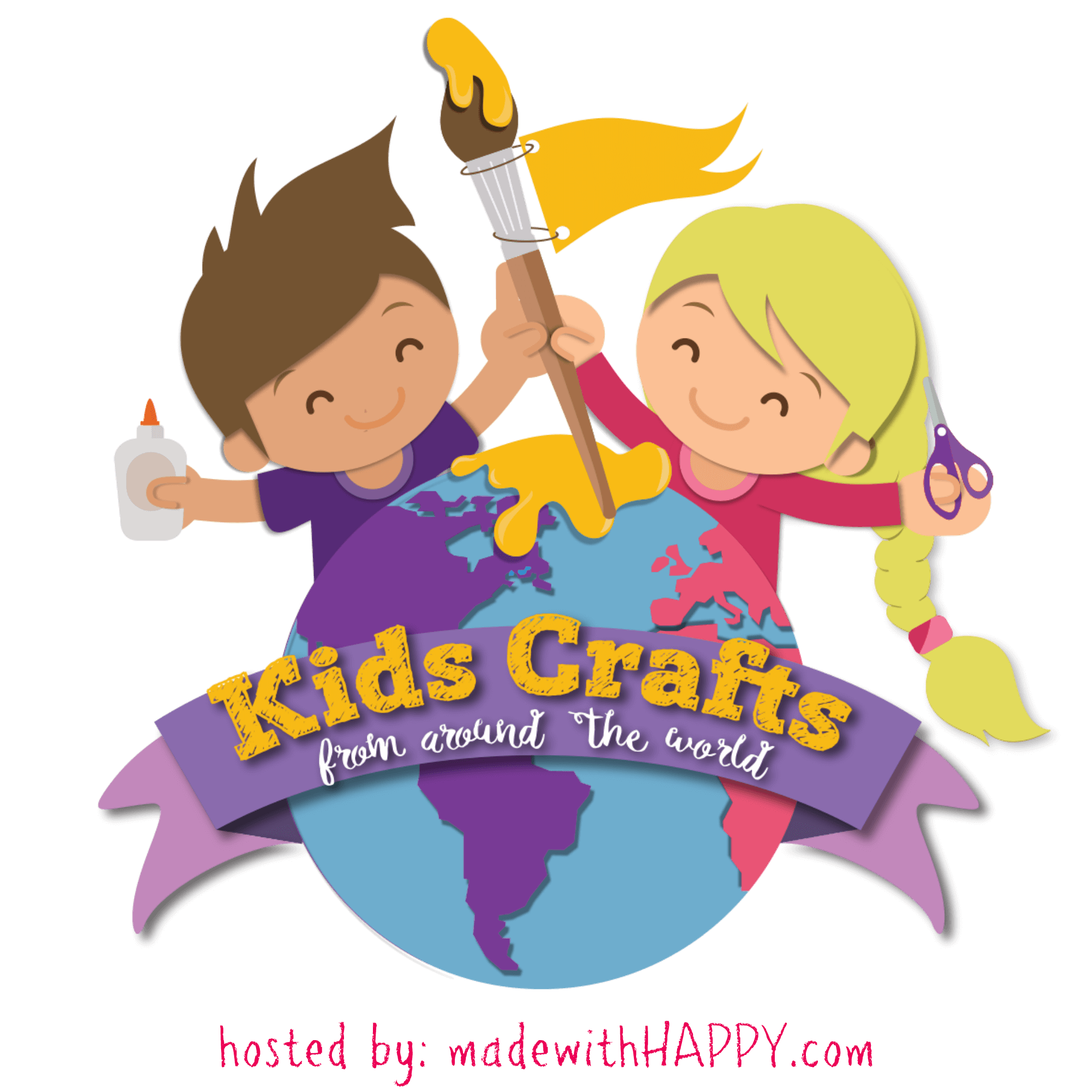 Kids from around the. Crafts clipart fun activity
