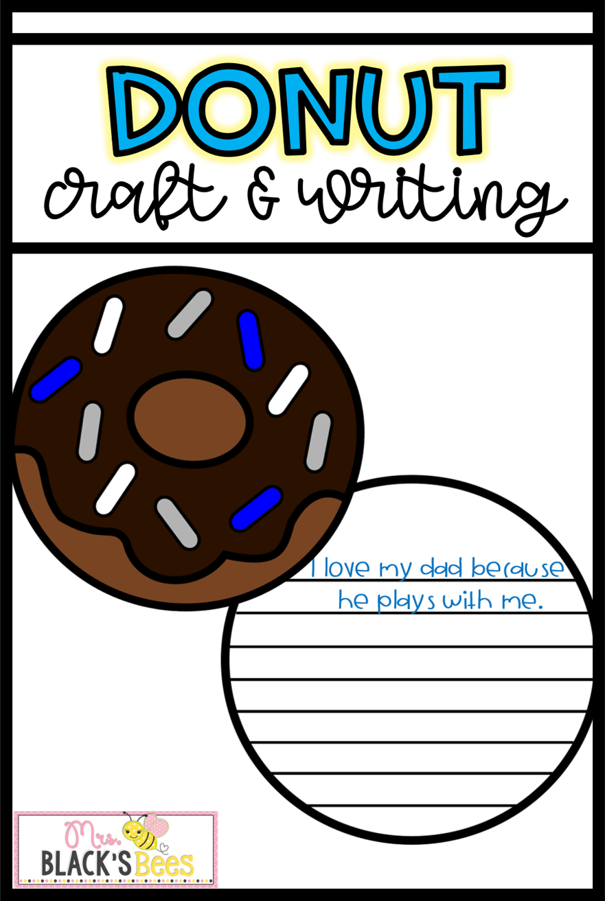 Donuts for dad craft. Crafts clipart fun activity