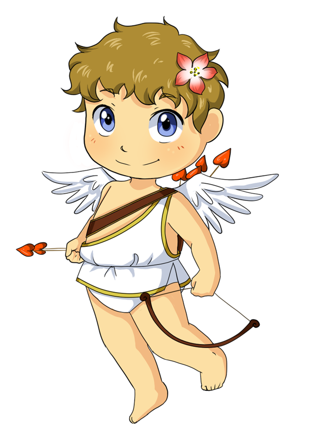 Valentines day cupid craft. Holidays clipart cute