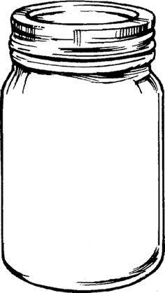 Mason jars free desktop. Jar clipart printable