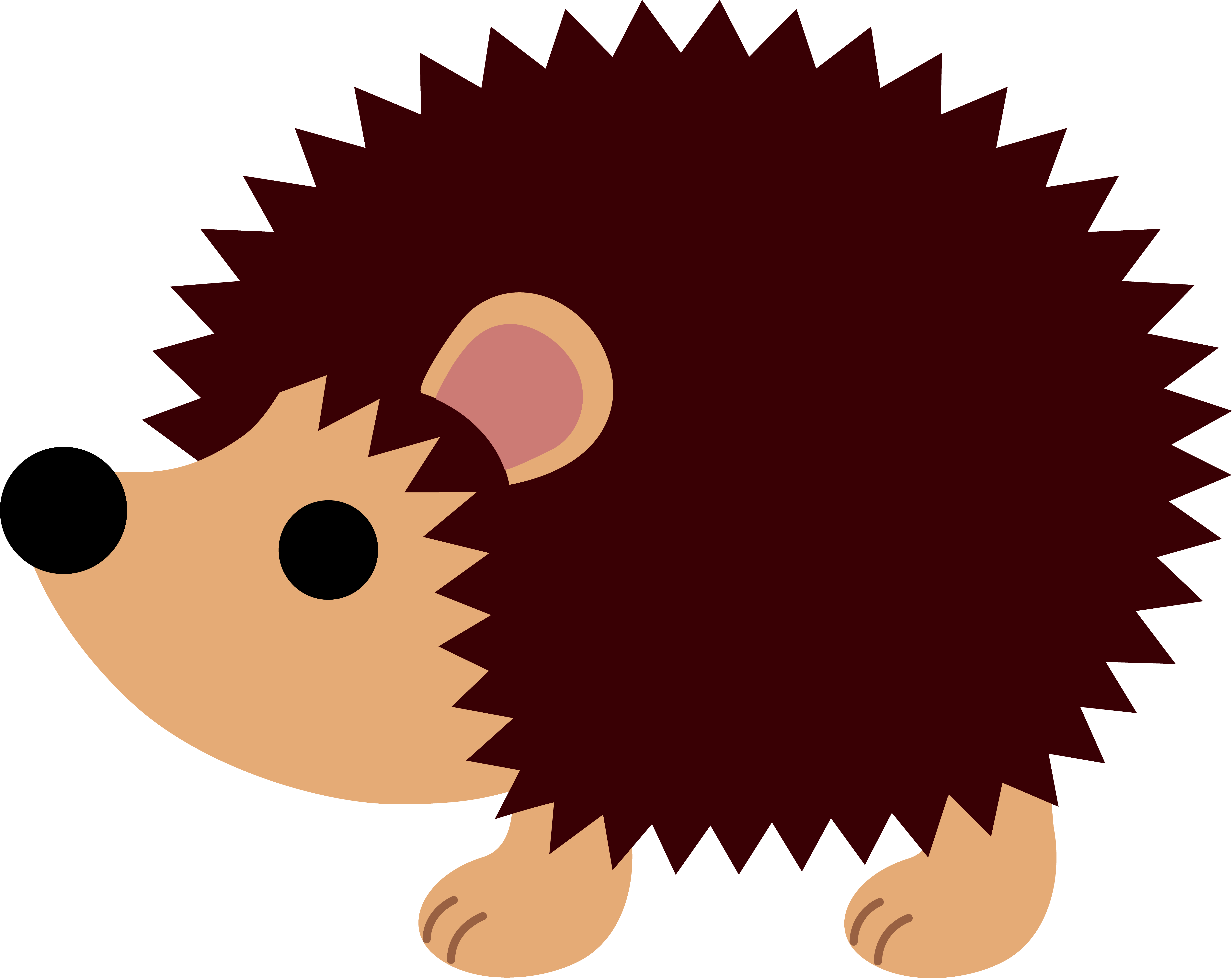 Porcupine cute pencil and. Woodland clipart outline