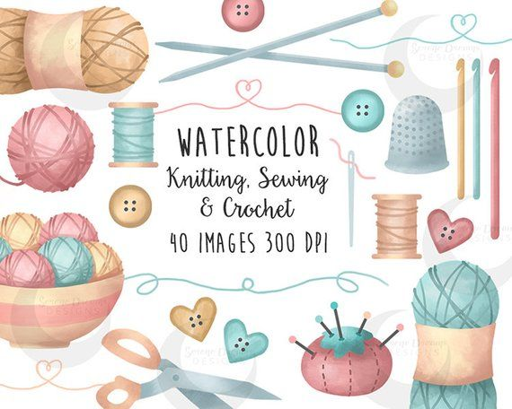 Crafts clipart knit. Knitting sewing and crochet