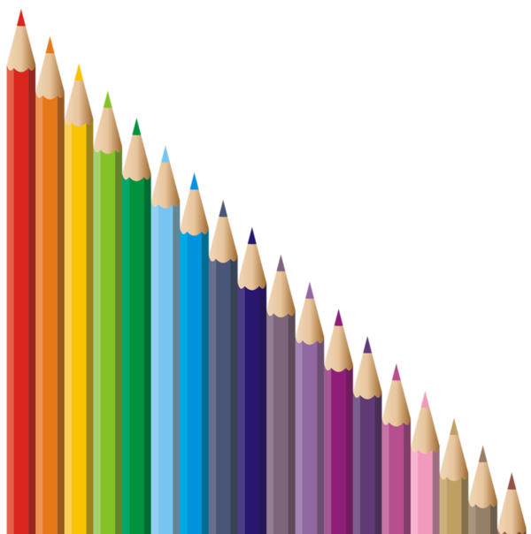 Crayons de couleurs articles. Markers clipart cute crayon box