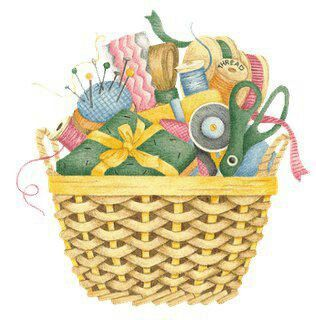 Quilting clipart sewing basket. Country style art