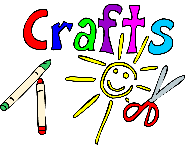 Crafts clipart word. All day fun tomorrow