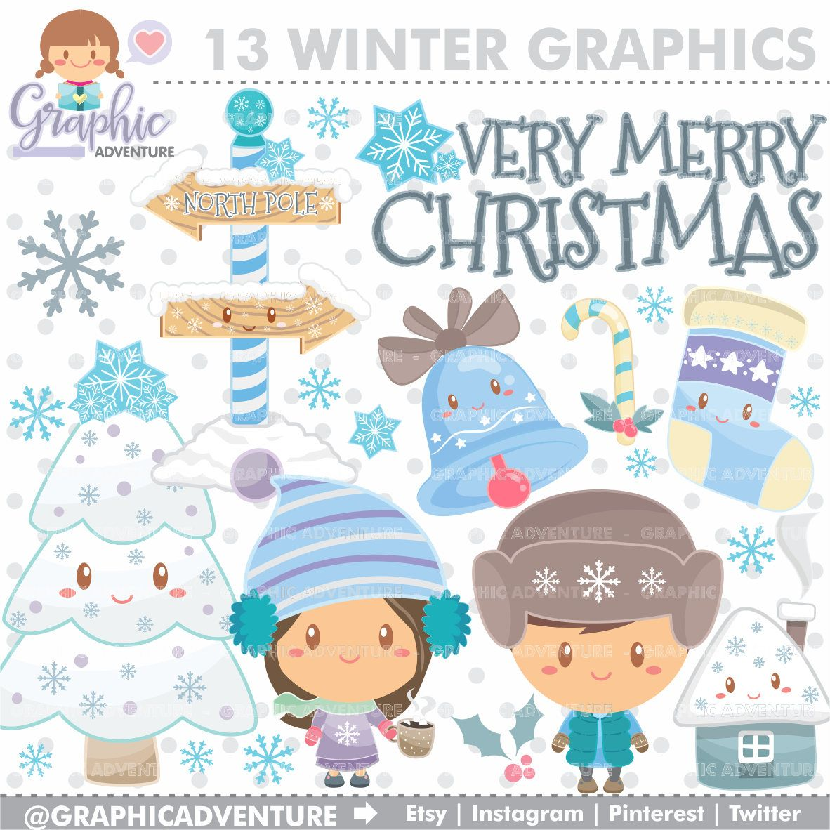 Winter clipart craft. Graphics commercial use planner
