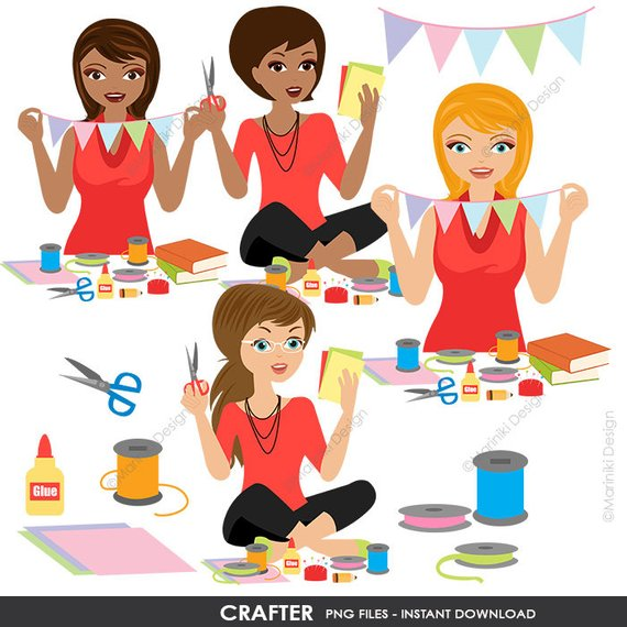 Pin on products . Craft clipart woman