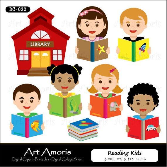 Crafts clipart art education. Reading kids digital clip