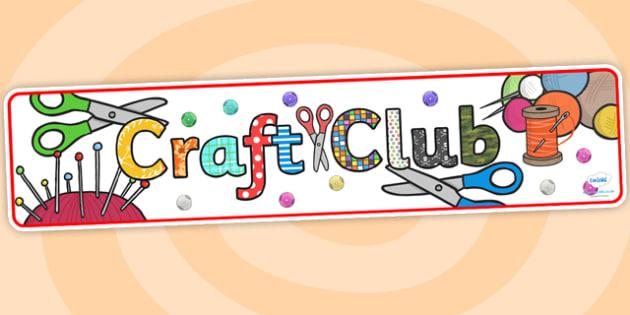 Display banner . Crafts clipart craft club