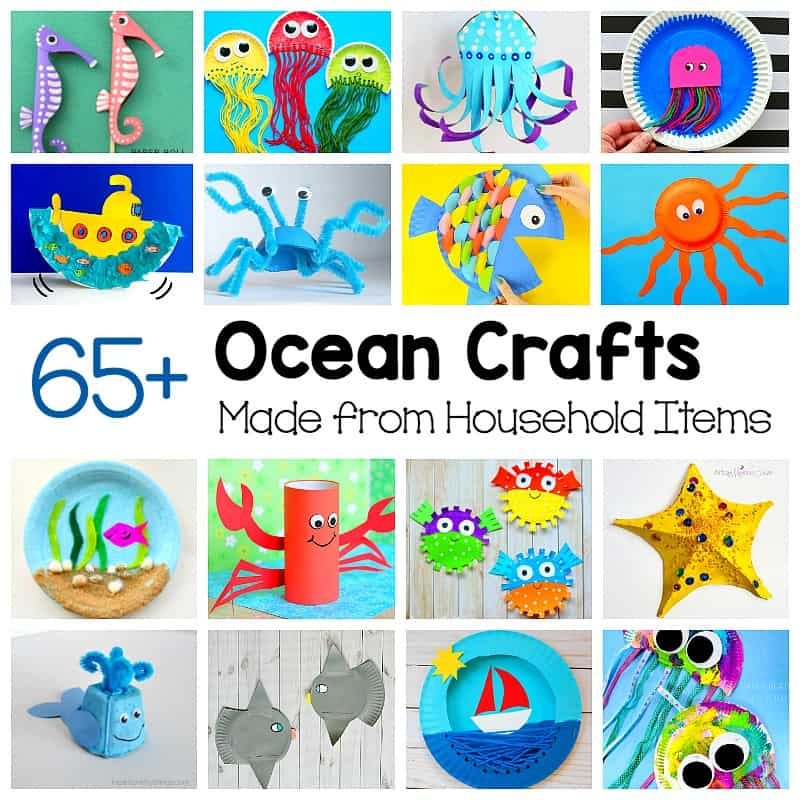 Crafts clipart craft material. Ocean for kids made