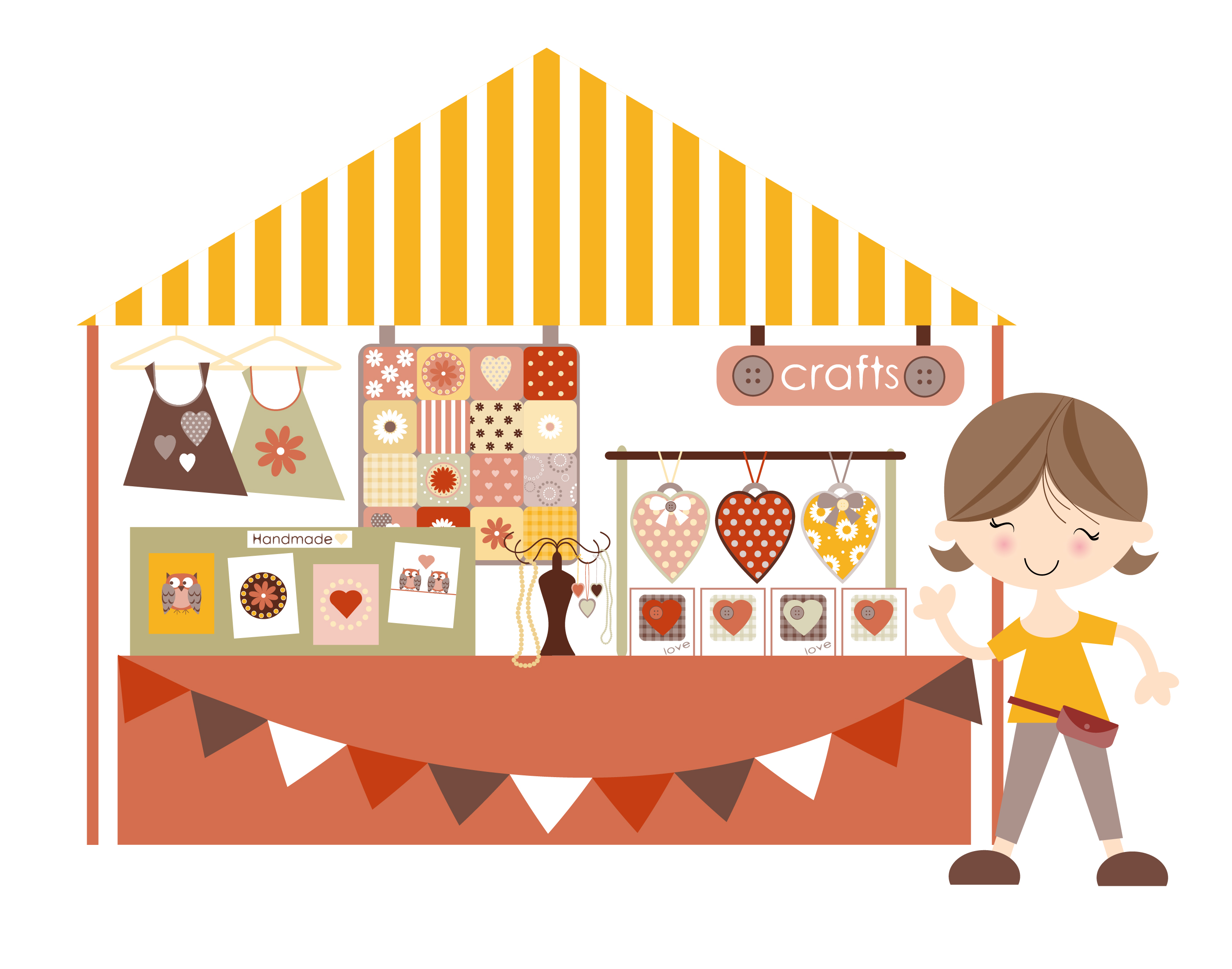 Crafts clipart crafty. Craft fair booth archives