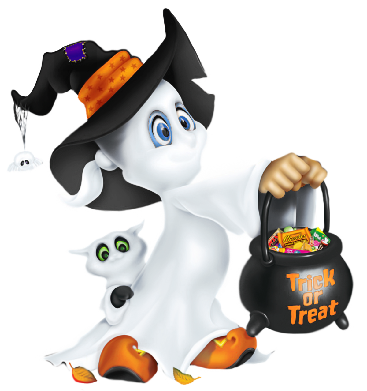 Cute ghost crafty fall. Crafts clipart halloween