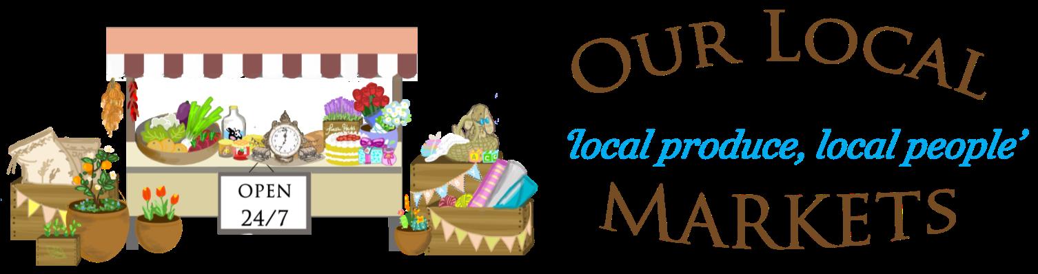 Our local markets wa. Market clipart market scene