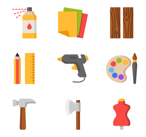Craft clipart handcraft. Icons free vector crafts