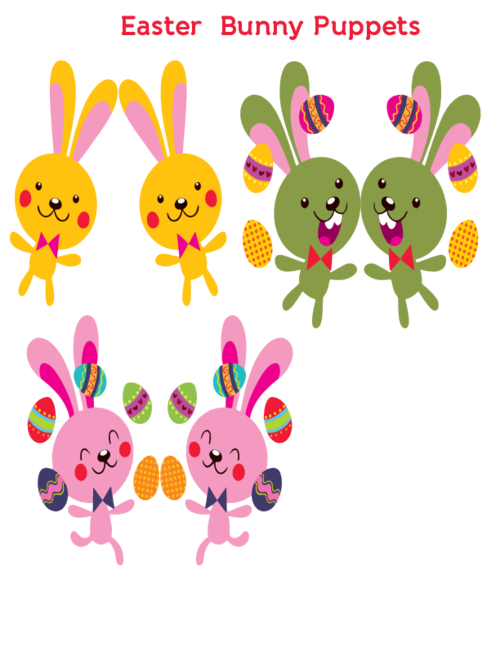 Easter bunny puppets puppet. Crafts clipart handmade craft