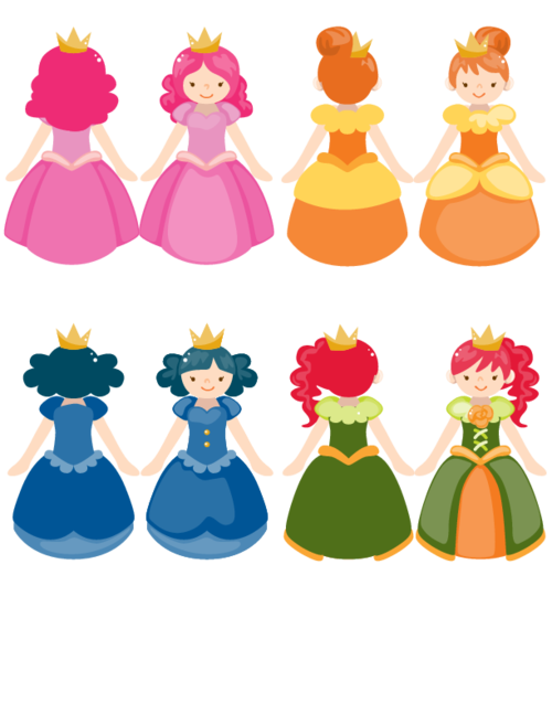 Stick puppet printable paper. Playdough clipart princess disney
