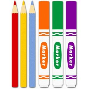 Markers clipart colored marker. Silhouette design store pencils